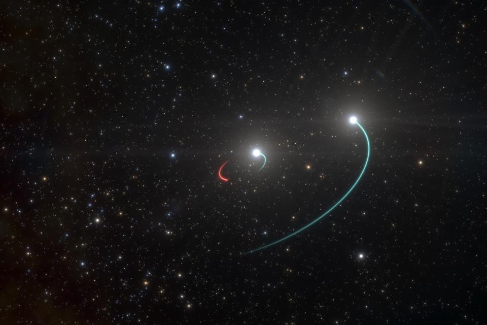 Artist's depiction of black hole in HR 6819