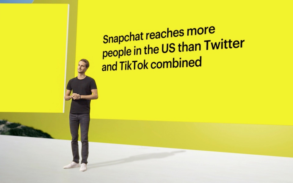 LOS ANGELES, CA - JUNE 11: In this screengrab, Evan Spiegel, CEO of Snap, Inc., takes the stage at the virtual Snap Partner Summit 2020. (Photo by Getty Images/Getty Images for Snap, Inc.)
