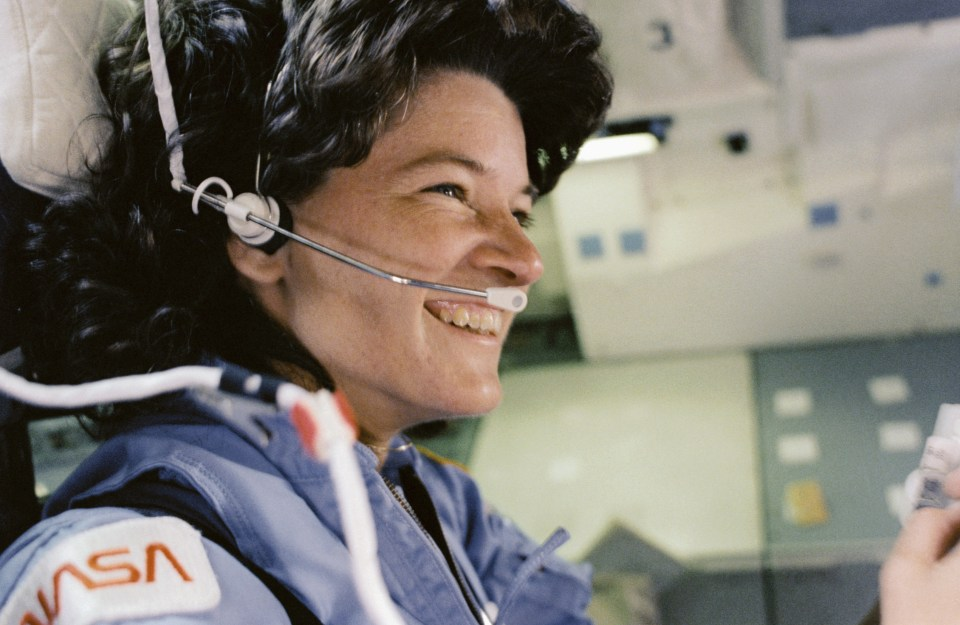 Astronaut Sally Ride sits in the aft flight deck mission specialist's seat during de-orbit preparations in this NASA handout photo released June 18, 2013. On June 18, 1983, Sally Ride became the first American woman to fly in space when the space shuttle Challenger launched on mission STS-7. As one of the three mission specialists on the STS-7 mission, she played a vital role in helping the crew deploy communications satellites, conduct experiments and make use of the first Shuttle Pallet Satellite. Following a 17-month long battle with pancreatic cancer, Sally Ride died on June 23, 2012, leaving behind a heroic legacy.  REUTERS/NASA/Handout via Reuters  (OUTERSPACE - Tags: SCIENCE TECHNOLOGY) ATTENTION EDITORS - THIS IMAGE WAS PROVIDED BY A THIRD PARTY. FOR  EDITORIAL USE ONLY. NOT FOR SALE FOR MARKETING OR ADVERTISING CAMPAIGNS. THIS PICTURE IS DISTRIBUTED EXACTLY AS RECEIVED BY REUTERS, AS A SERVICE TO CLIENTS