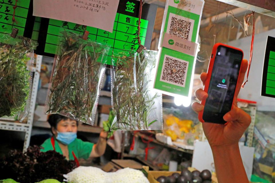 WeChat app scanning