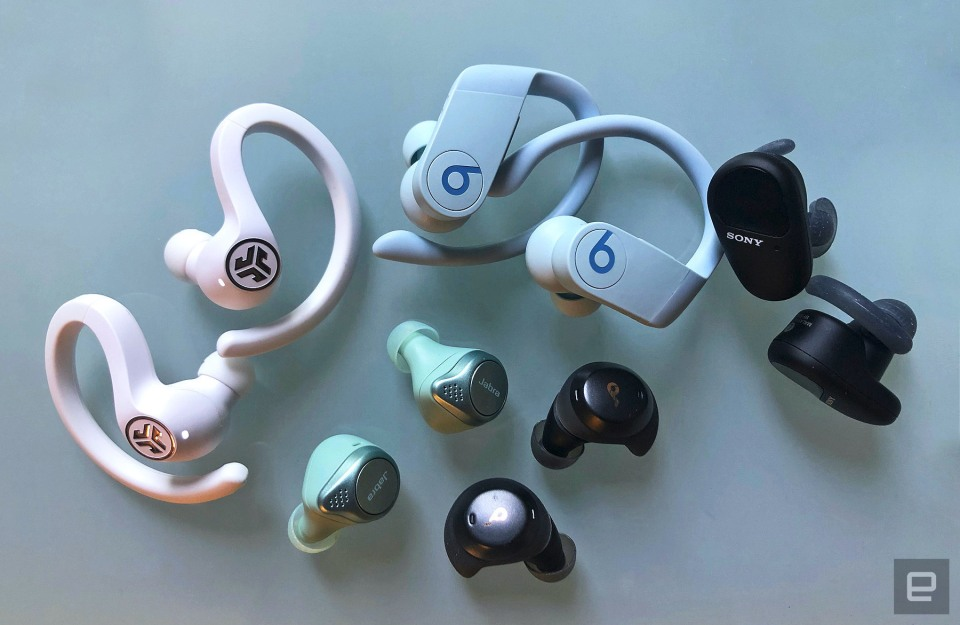 Engadget tests wireless workout headphones.