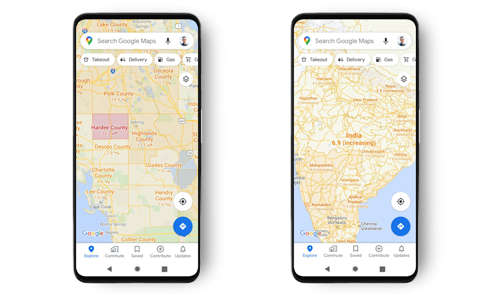 smartphones with google maps