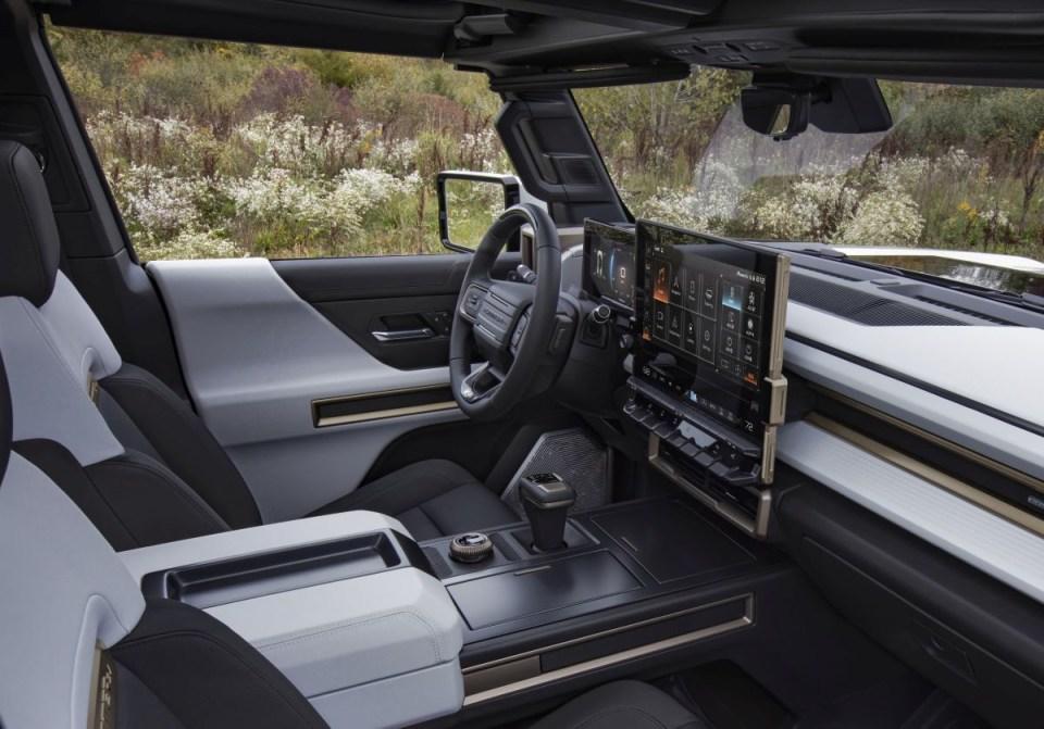 The GMC HUMMER EV's interior