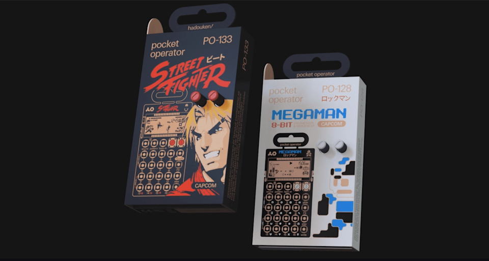 Teenage Engineering PO-133 Street Fighter and PO-128 Mega Man synths
