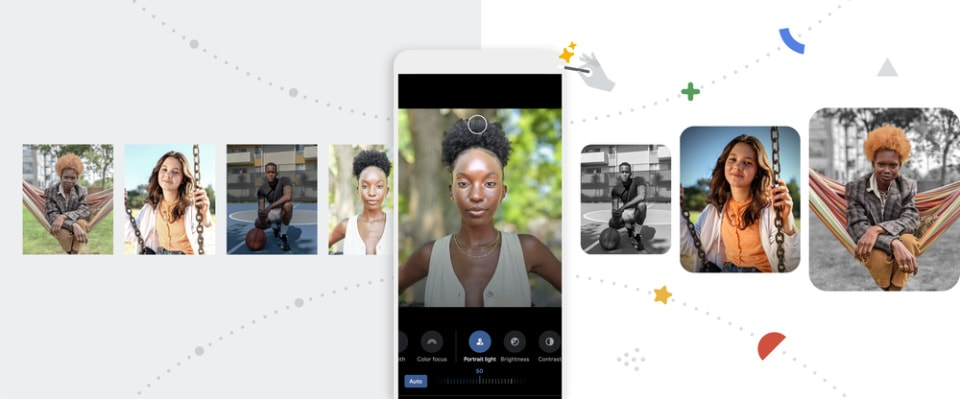 Portrait Light in the new Google Photos for Android