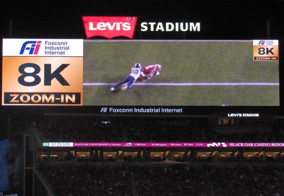 Levi's Stadium - 8K Zoom-in instant replay