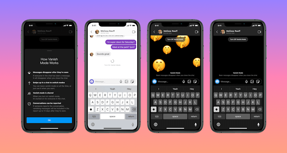 Instagram is getting a new feature for disappearing chats.