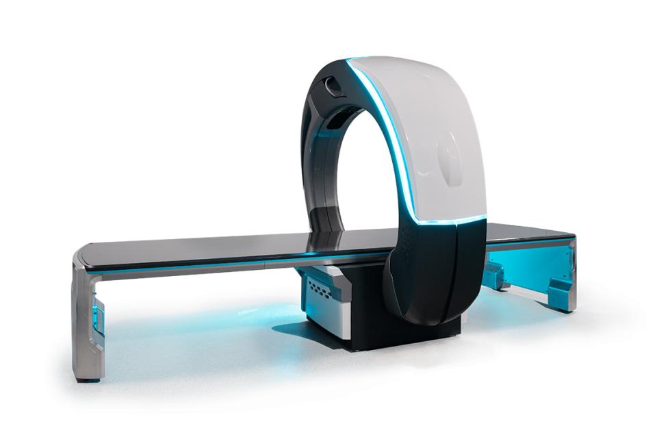 Nanox Arc medical scanning bed concept.