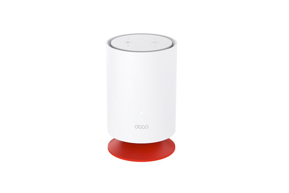Image of TP-Link's new Deco Voice X20 mesh WiFi 6 equipment. Exciting, isn't it.