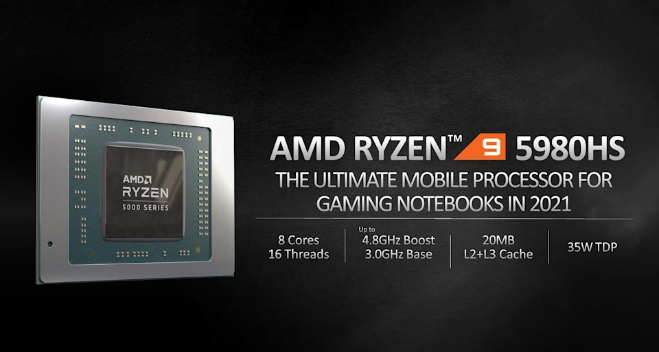 AMD's Ryzen 5000 CPUs come to laptops with desktop-class performance claims