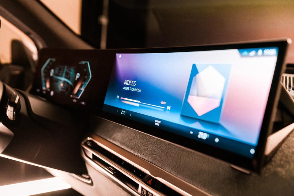 BMW iX electric SUV iDrive interface