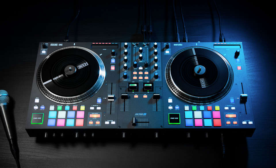 Press image of the new Rane One DJ controller.