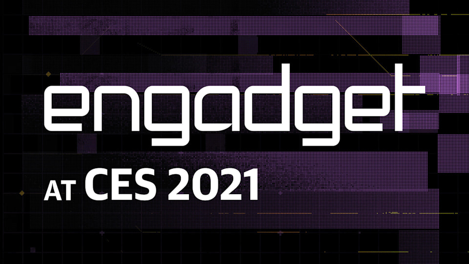"""Onscreen text saying """"Engadget at CES 2021."""""""