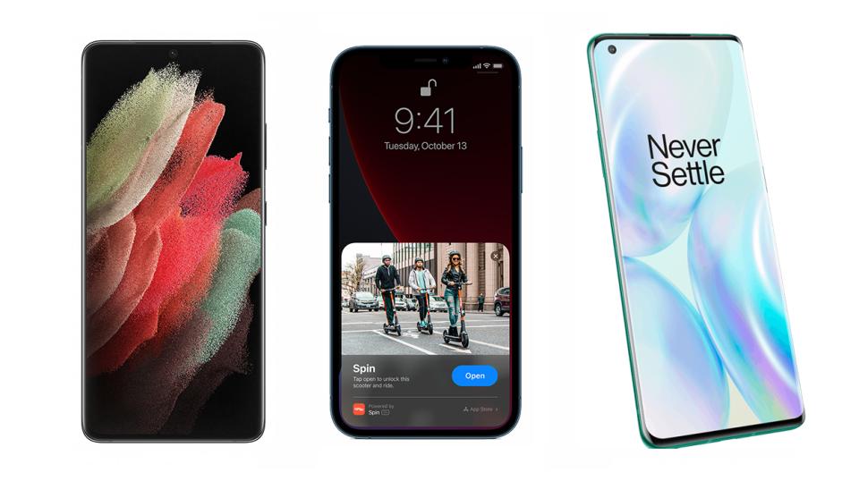 Samsung Galaxy S21 Ultra vs. iPhone 12 Pro Max vs. OnePlus 8 Pro
