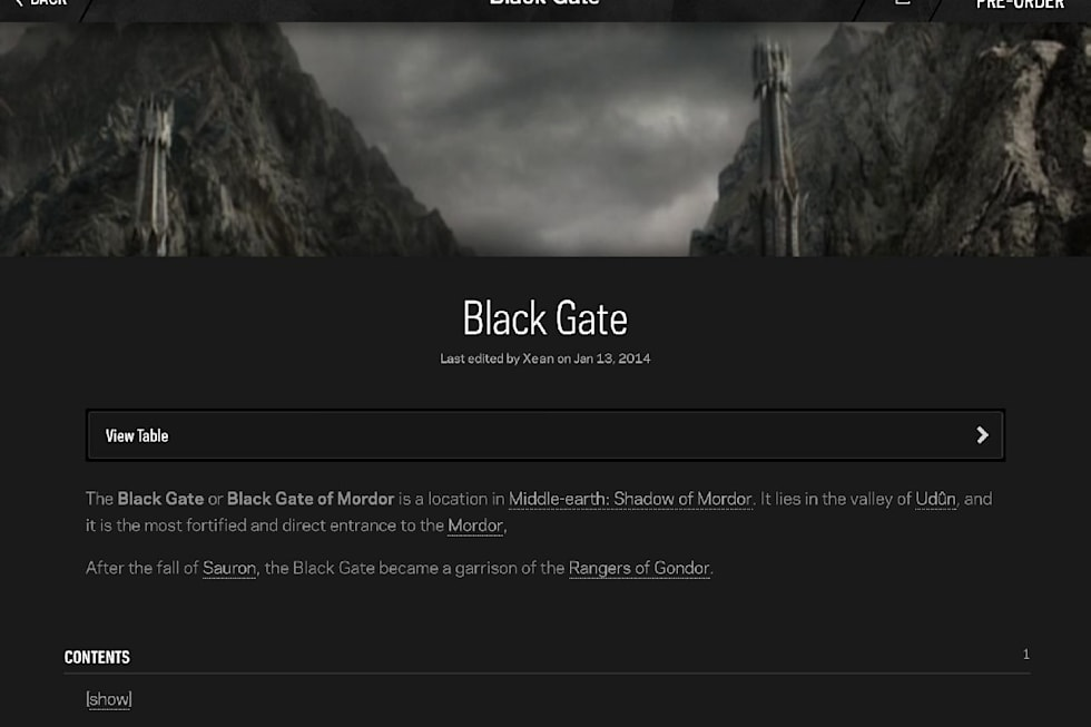 Middle-earth: Shadow of Mordor's 'Palantir' app listens while you play