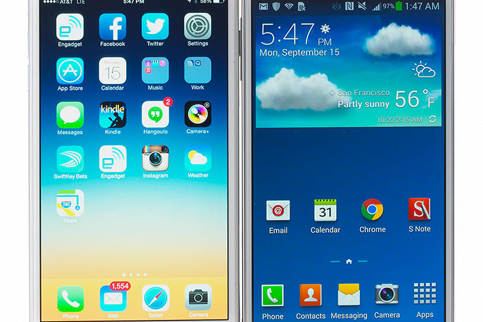 iPhone 6 versus the Galaxy Note 3