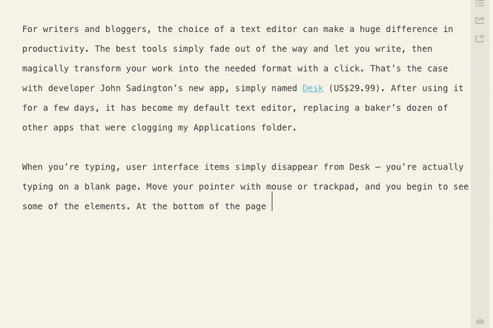 Desk: A painless writing and blogging tool for Mac