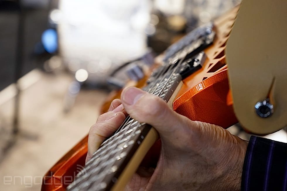 Band with 3D-printed instruments at CES