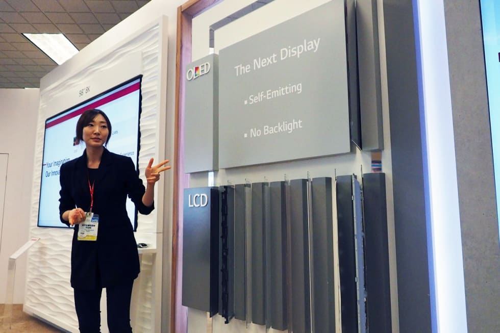 LG Display prototypes at CES 2016