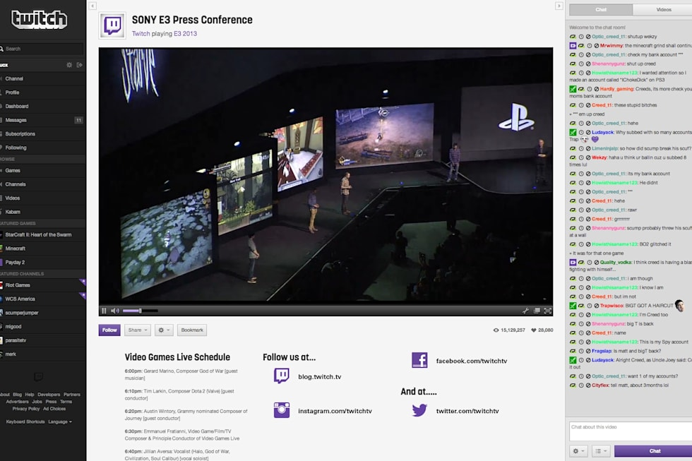 PlayStation 4 adds Twitch as livestreaming partner, service 'likely