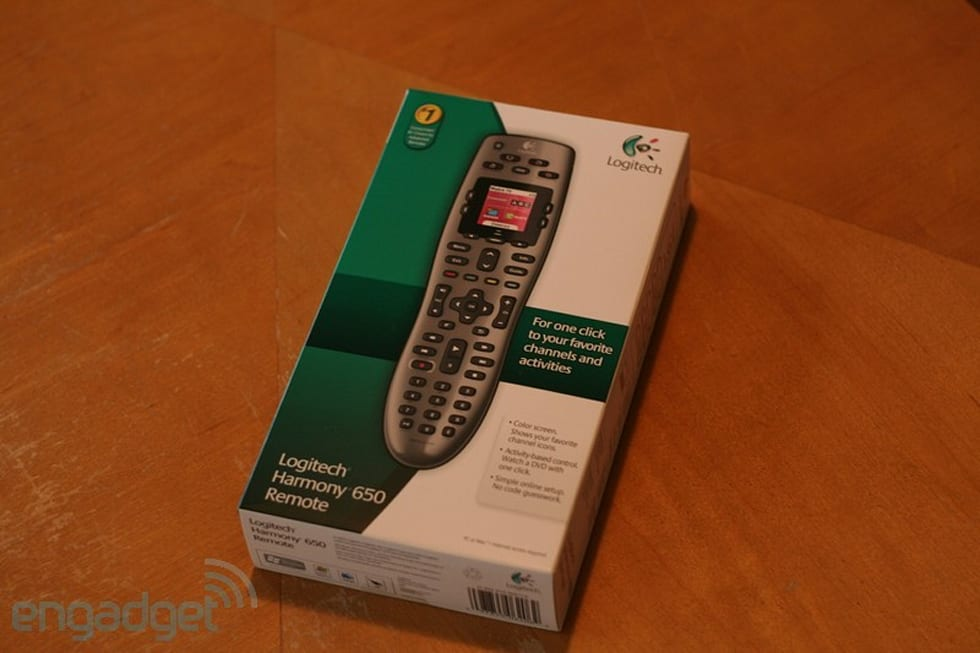 Logitech Harmony 650 remote review