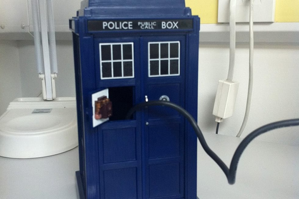 1tb hard drive thrown into a toy tardis gives us a proper time machine