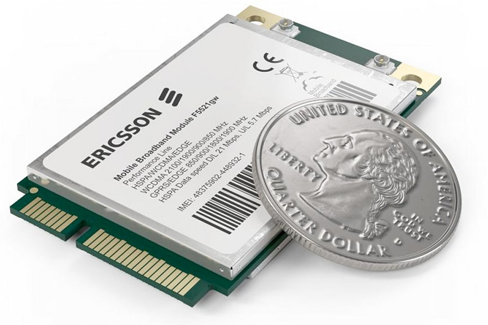 Ericsson's new mobile broadband modules: one for Oak Trail