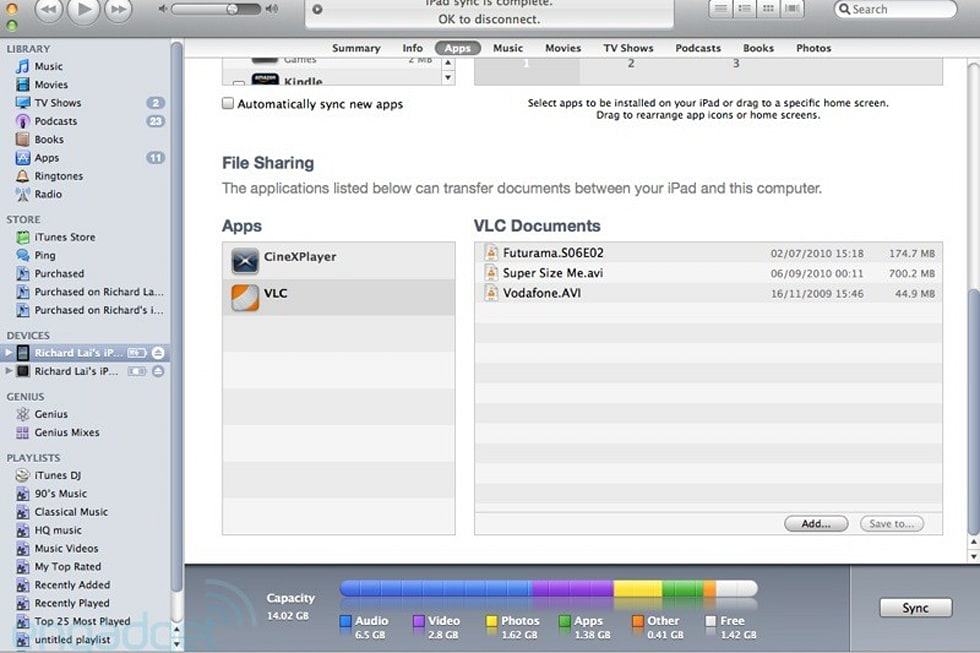 VLC Media Player for iPad now available, your video codec