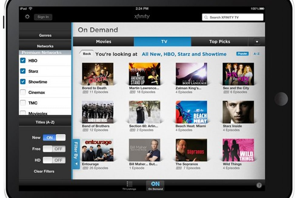 Comcast Xfinity remote app for iPhone, iPad launches, video