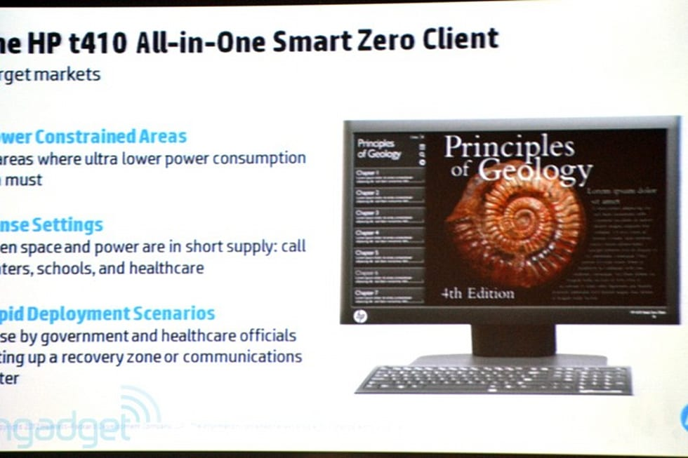 HP t410 AIO Smart Zero Client does single-wire Power over