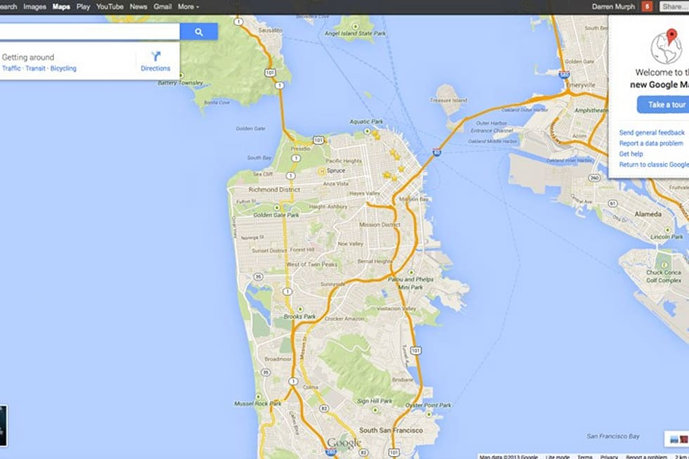 Redesigned Google Maps hands-on: vector-based, more personal ... on netflix map, messaging map, latitude map, security map, phone map, ebay map, mosaic map, mac map, mobile map, pandora map, apple map,