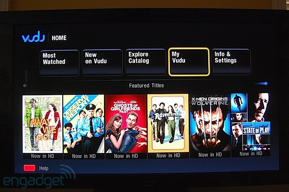 VUDU on the LG BD390 review
