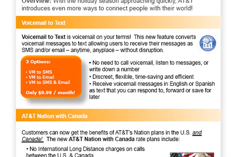 AT&T launching voicemail-to-text service, new Mobile TV