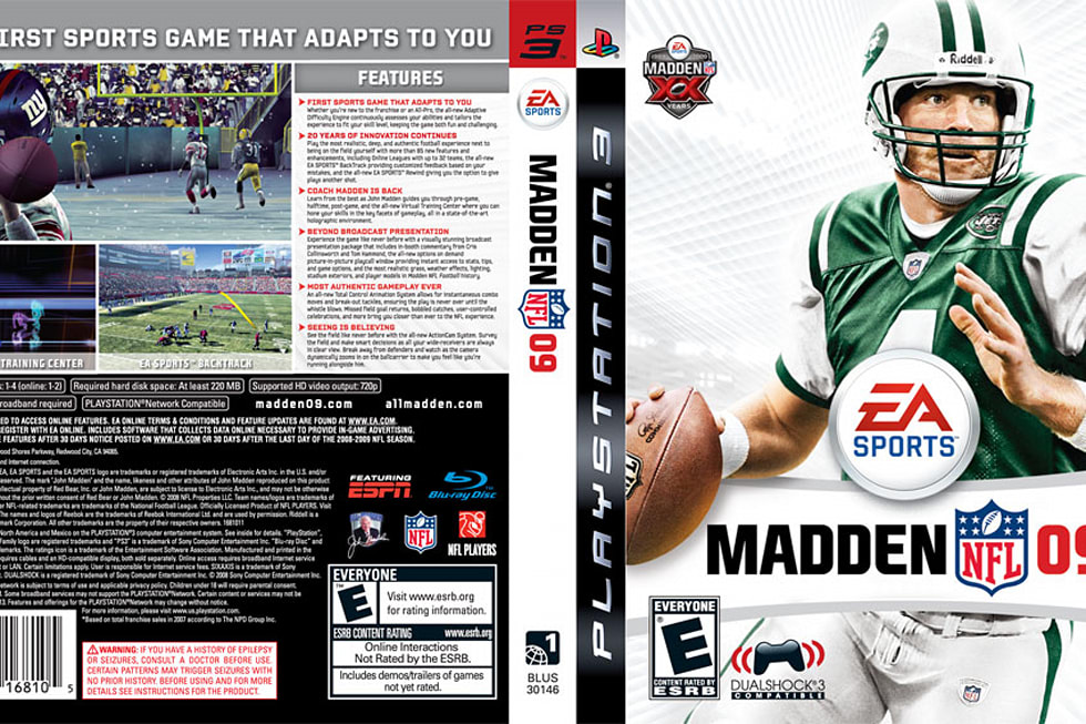 Print me: New Madden NFL 09 cover (except Xbox, Wii, and DS    )