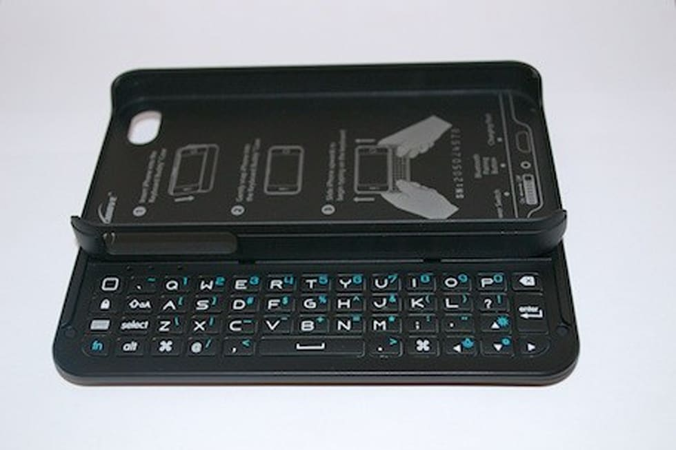 the latest e122e 8b022 Boxwave Keyboard Buddy Case for iPhone: Backlit BT slide-out keyboard