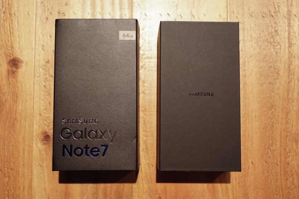 Samsung Galaxy Note 7 台版開箱(Unboxing)