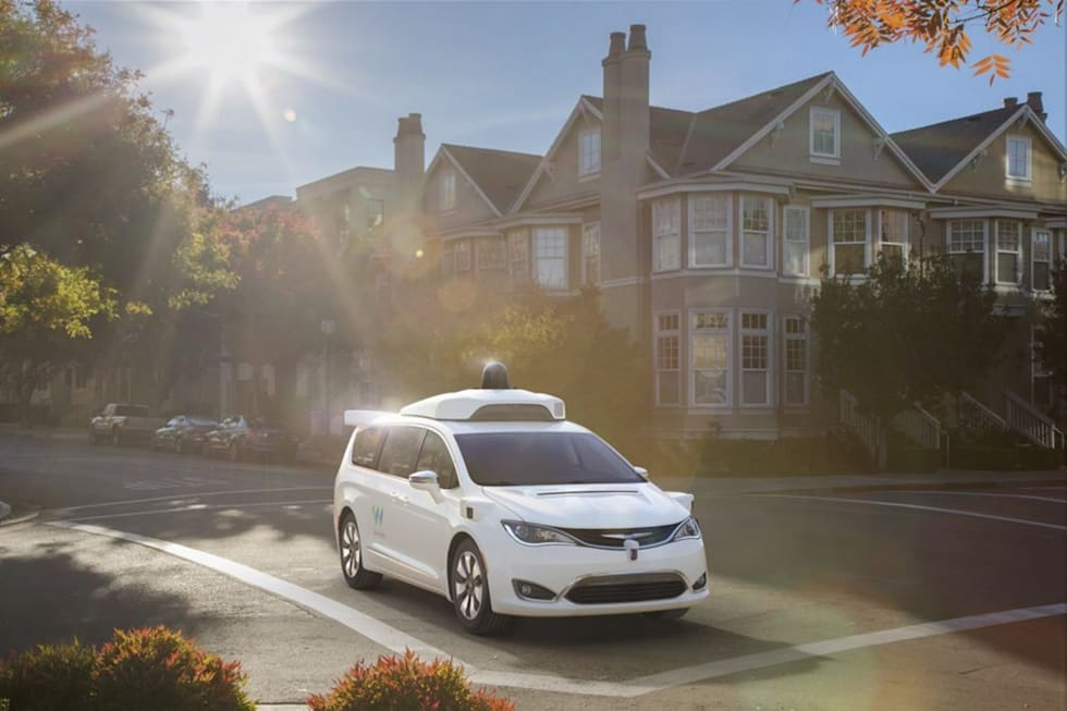 Google Waymo Chrysler Pacifica self-driving minivan