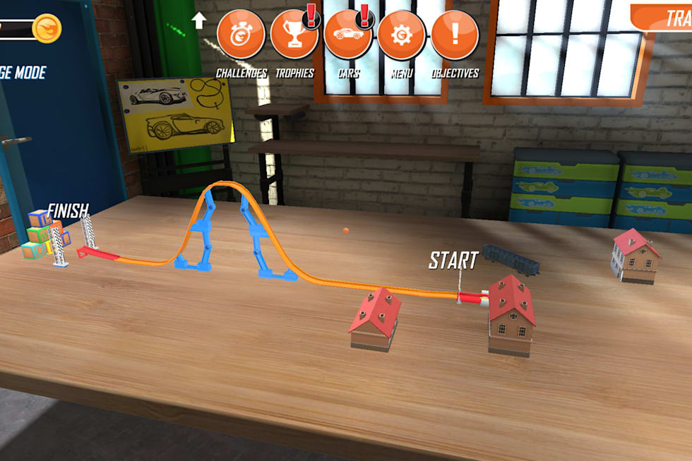 Hot Wheels Track Builder' is an AR den for your creations