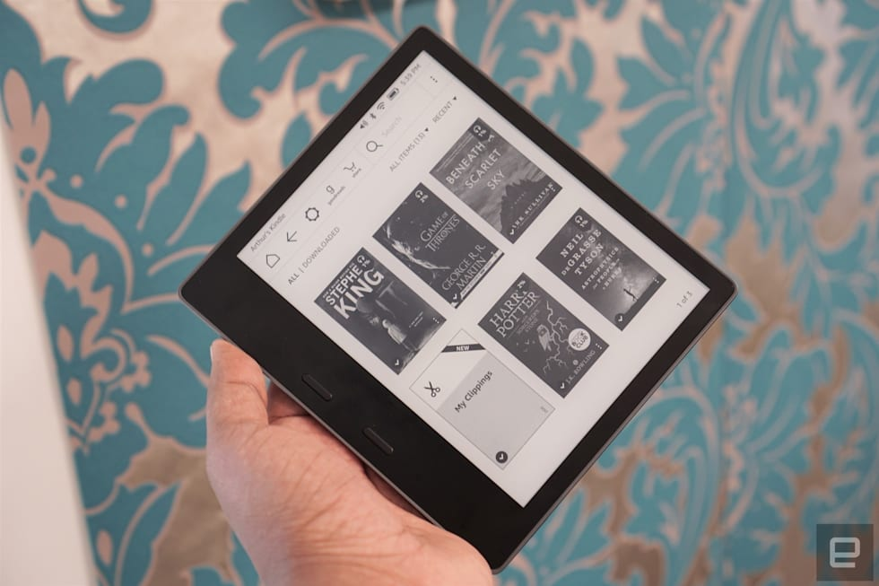 ff58fb002e06 Techmeme  Amazon unveils new waterproof Kindle Oasis with a 7-inch screen  and support for Audible audiobooks