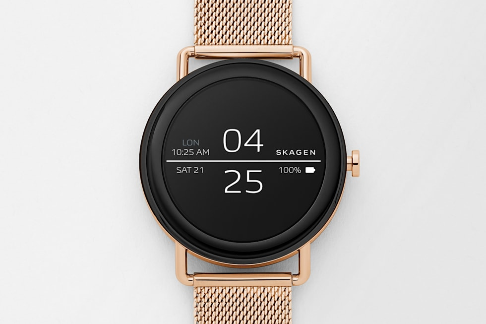 Skagen's first touchscreen smartwatch press images