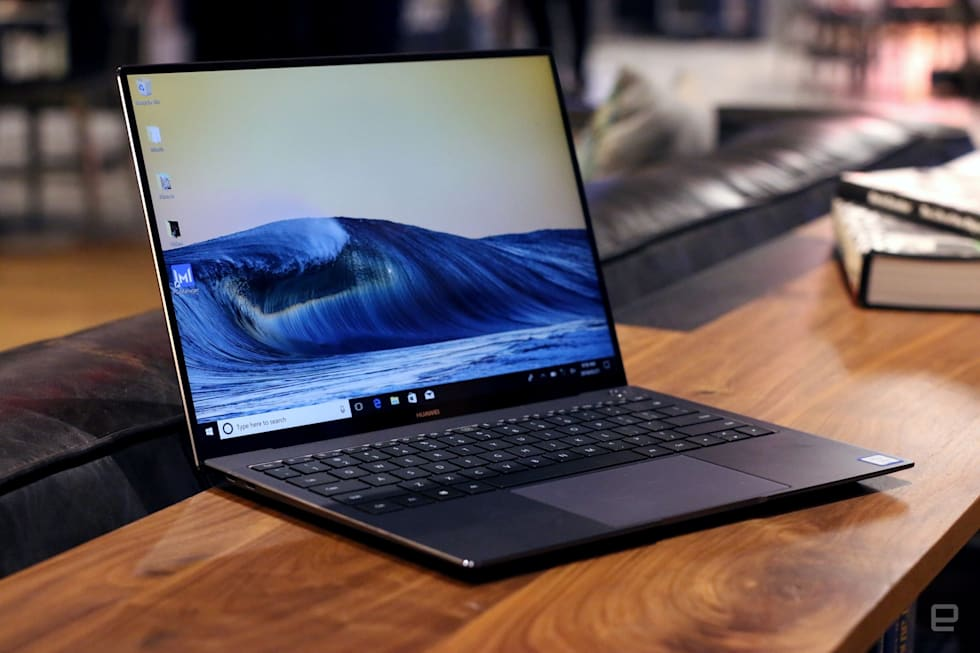 Huawei's MateBook X Pro crams a pop-up webcam into the keyboard