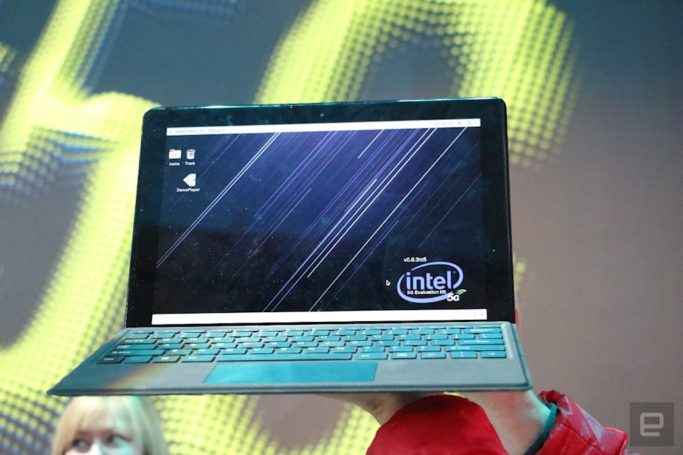 Hands-on with Intel's 5G-capable 2-in-1 PC