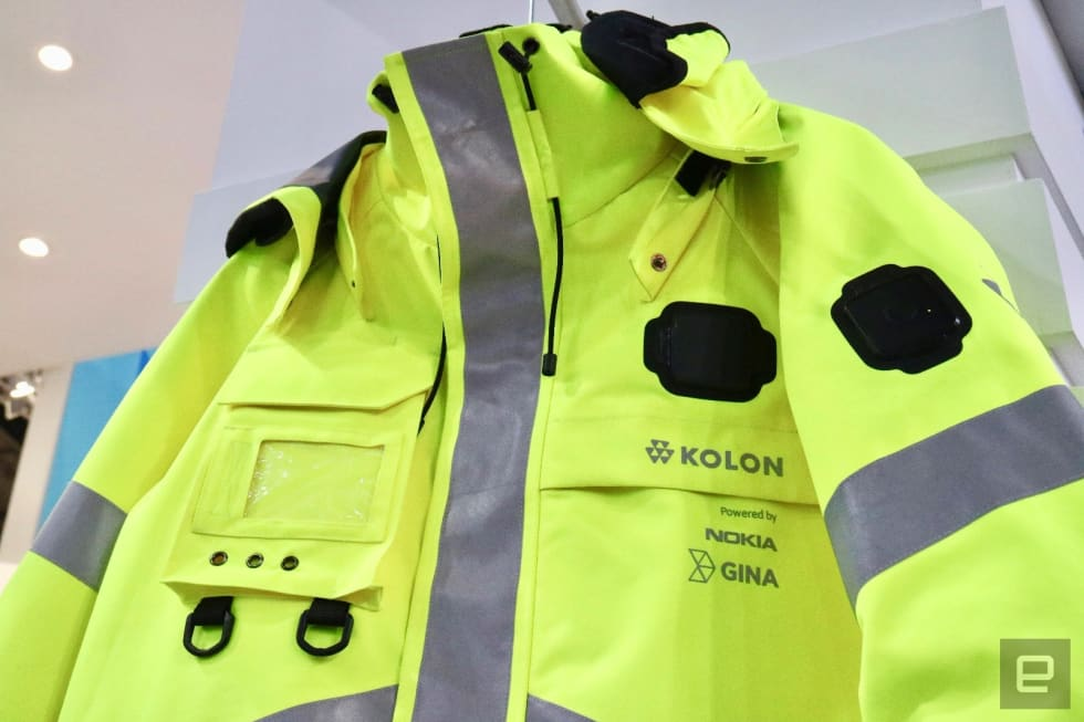 Nokia and Kolon's CHASE LifeTech FR jacket