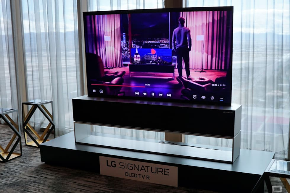 37b71aae38a5 LG's rollable OLED TV is real, and you can buy it this year