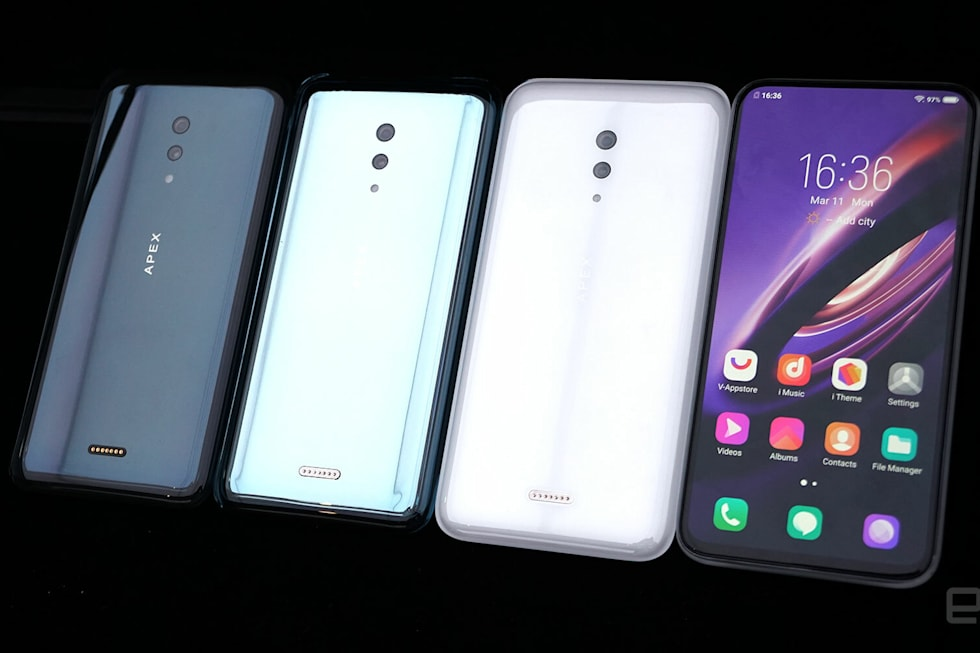 A closer look at Vivo's all-glass, port-free concept 5G phone