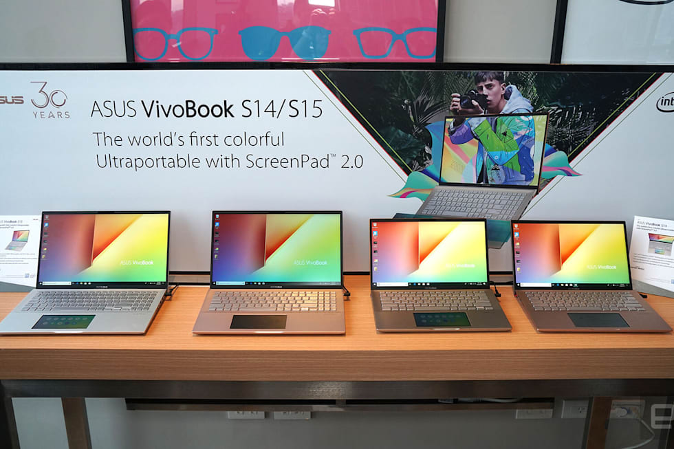 ASUS VivoBook S14 and S15 with ScreenPad