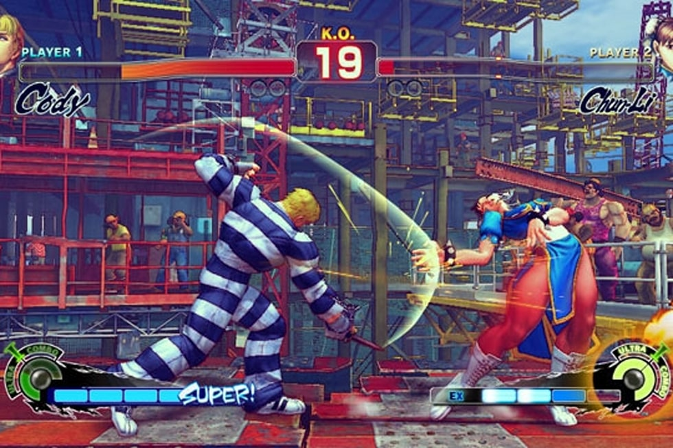 Super Street Fighter Iv Screens Cody Stuck In Handcuffs Engadget