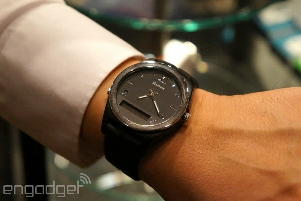 Martian Notifier Watch Uses Custom Vibration Patterns To Signal What App S Bugging You Engadget