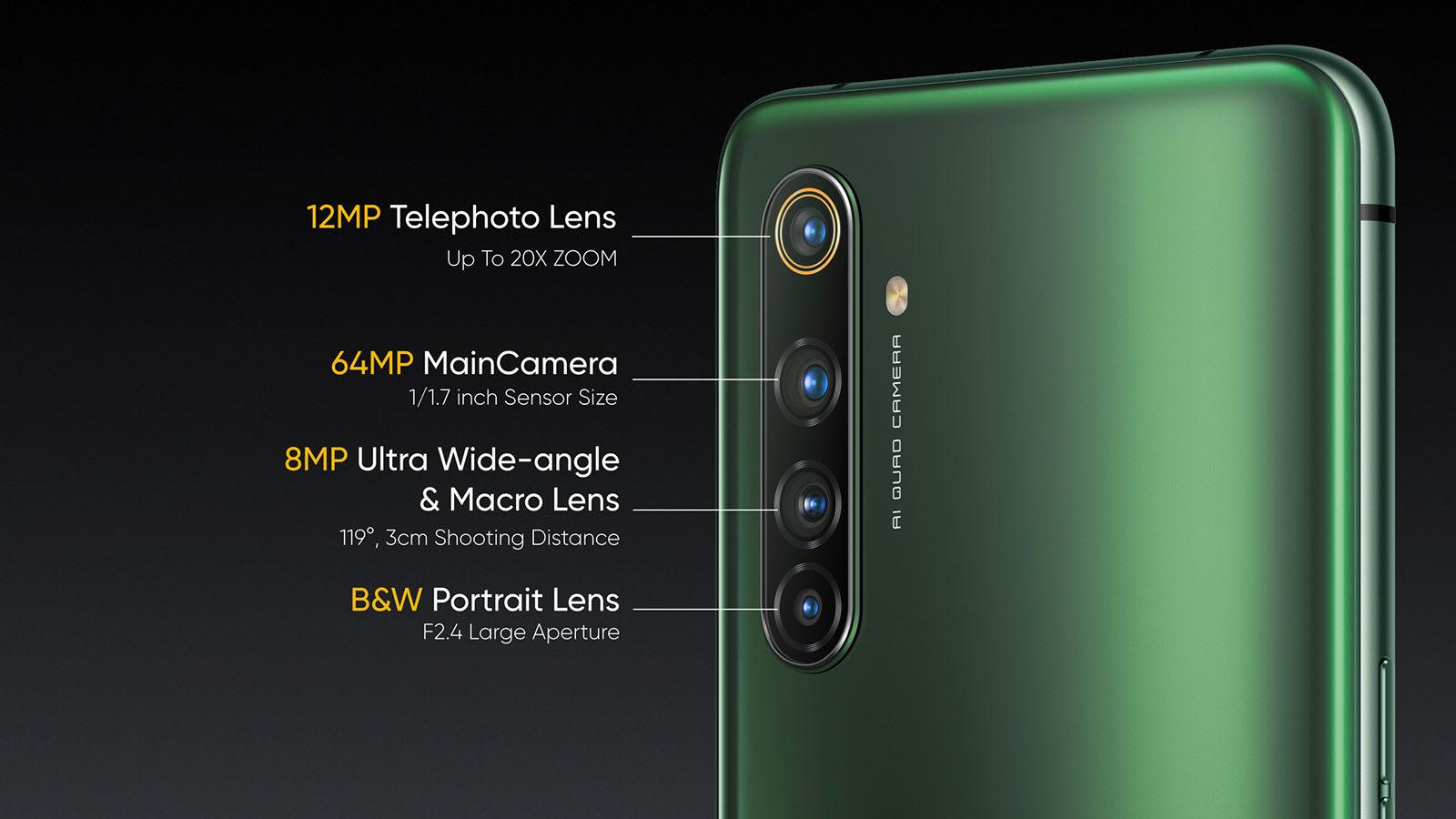 Realme X50 Pro rear cameras