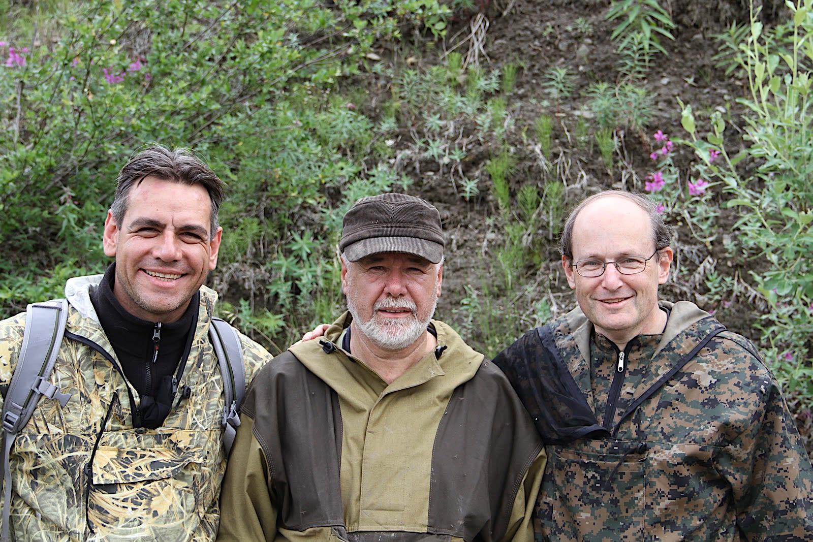 Luca Bindi, Valery Kryachko and Paul Steinhardt (left to right)
